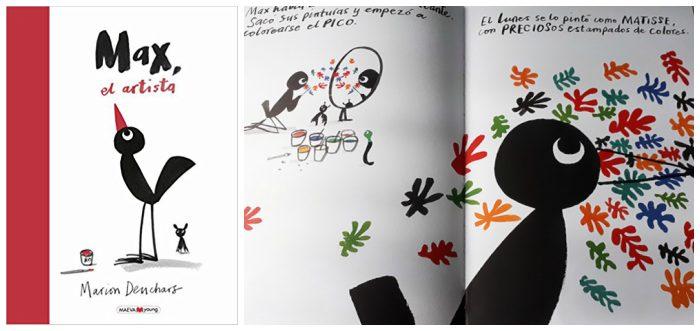 mejores cuentos infantiles 3 a 5 años, libros recomendados max el artista autoestima
