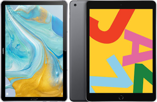 Comparativa tablets domésticos de gama alta Huawei MediaPad M6 vs Apple iPad 10.2 2019