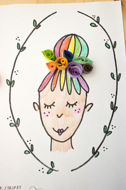 Make Easy Paper Quilled Fairies with Kids- Clear Directions and Fairy Printable included