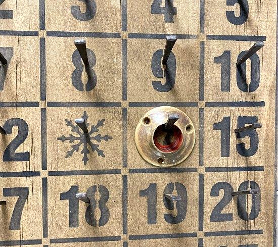 Rustic Vintage Nail Bingo Advent Calendar