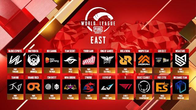 Jadual dan Keputusan Kejohanan PMWL East 2020 (Kedudukan Carta)