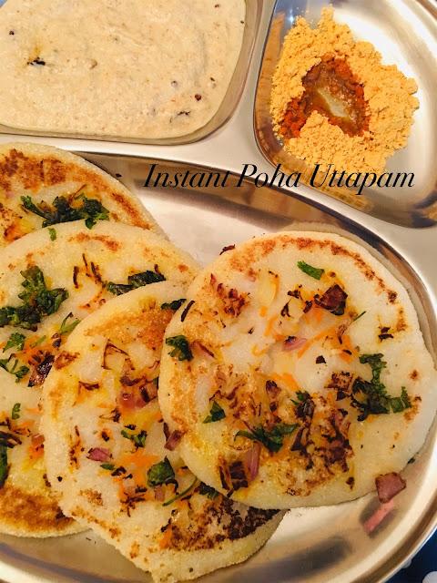 Instant Poha Uttapam