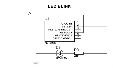 Led Blinking using Experiment 12F629
