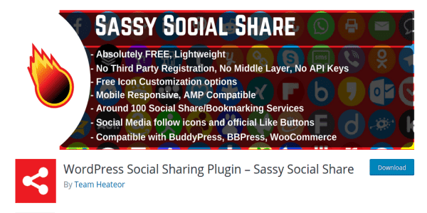 WordPress Social Sharing Plugin