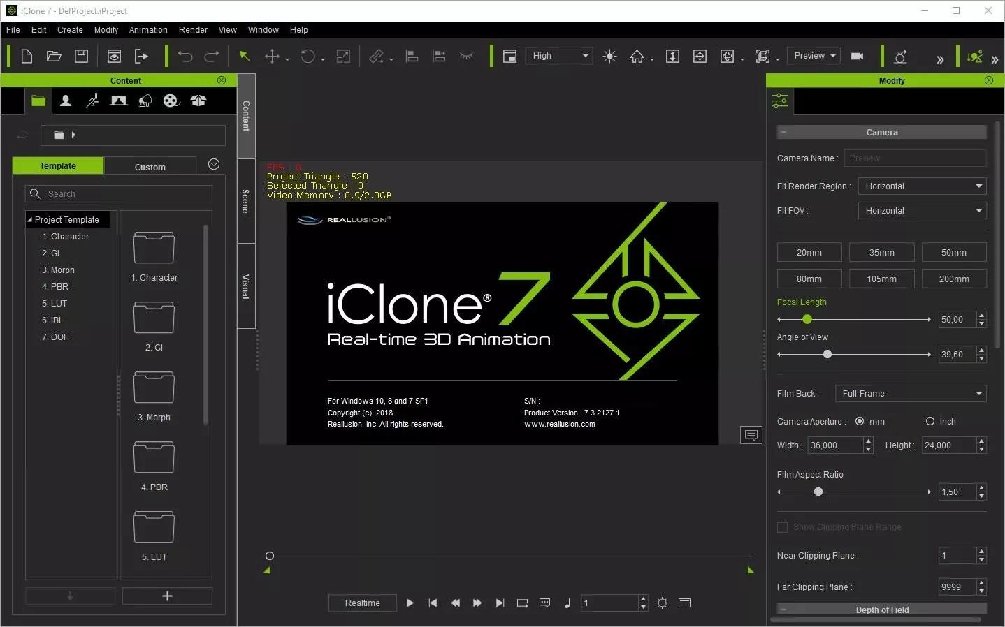 تحميل برنامج Reallusion iClone Pro 7.8.4322.1 لإنشاء شخصيات ثلاثية الأبعاد ورسوم متحركة