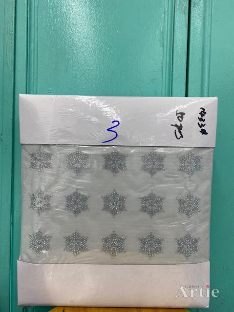 Pelekat hotfix sticker rhinestone DMC aplikasi tudung bawal fabrik pakaian bentuk bintang 6 bucu