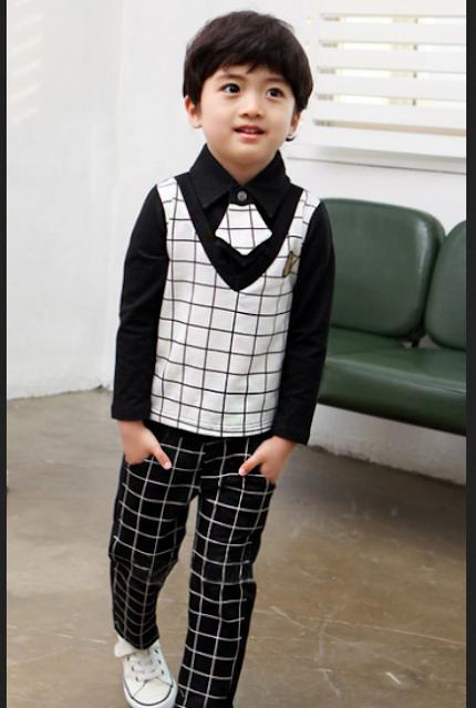 Model baju pesta casual anak laki-laki