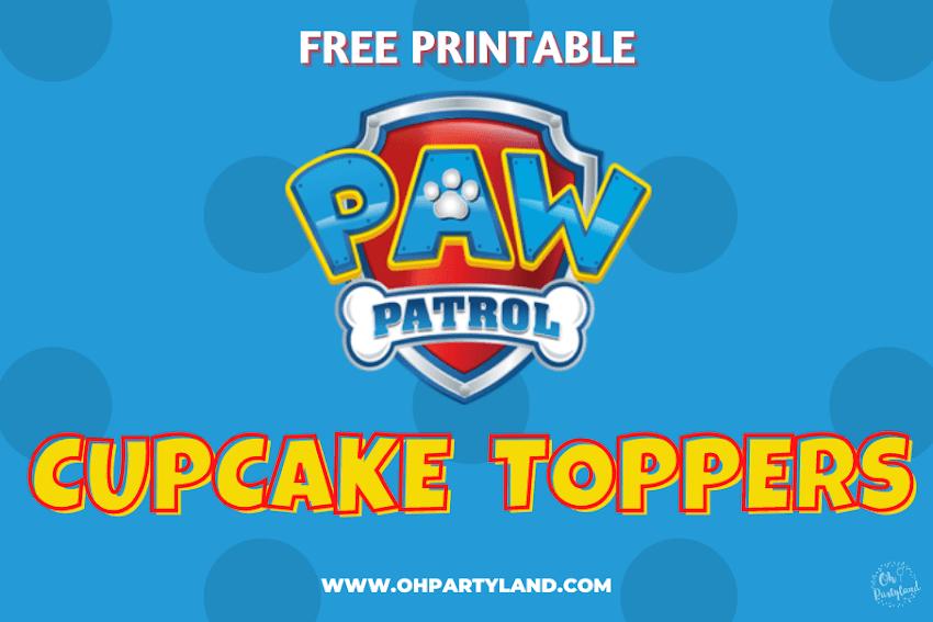 Paw Patrol Cupcake Toppers - Free printable