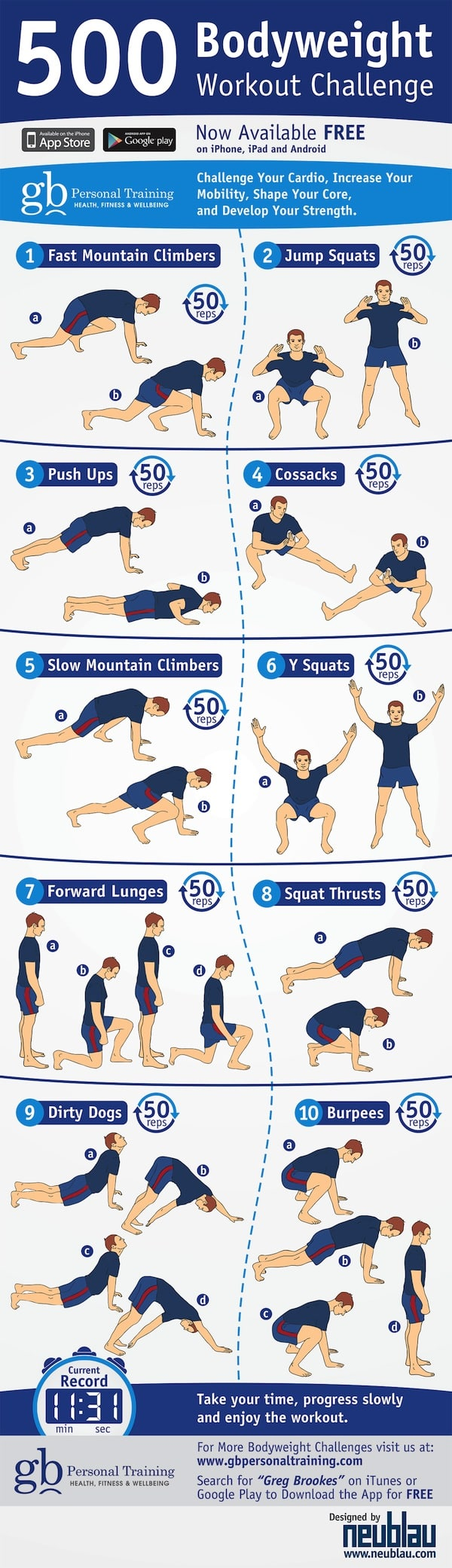 500 Bodyweight Challenge #infographic