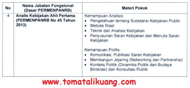 kisi kisi materi skb Analis Kebijakan ahli pertama formasi cpns tahun 2021 tomatalikuang.com