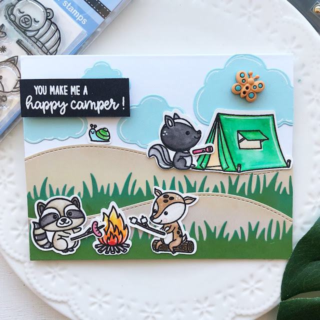 Sunny Studio Stamps: Critter Campout Customer Card Share by Ashley Hughes