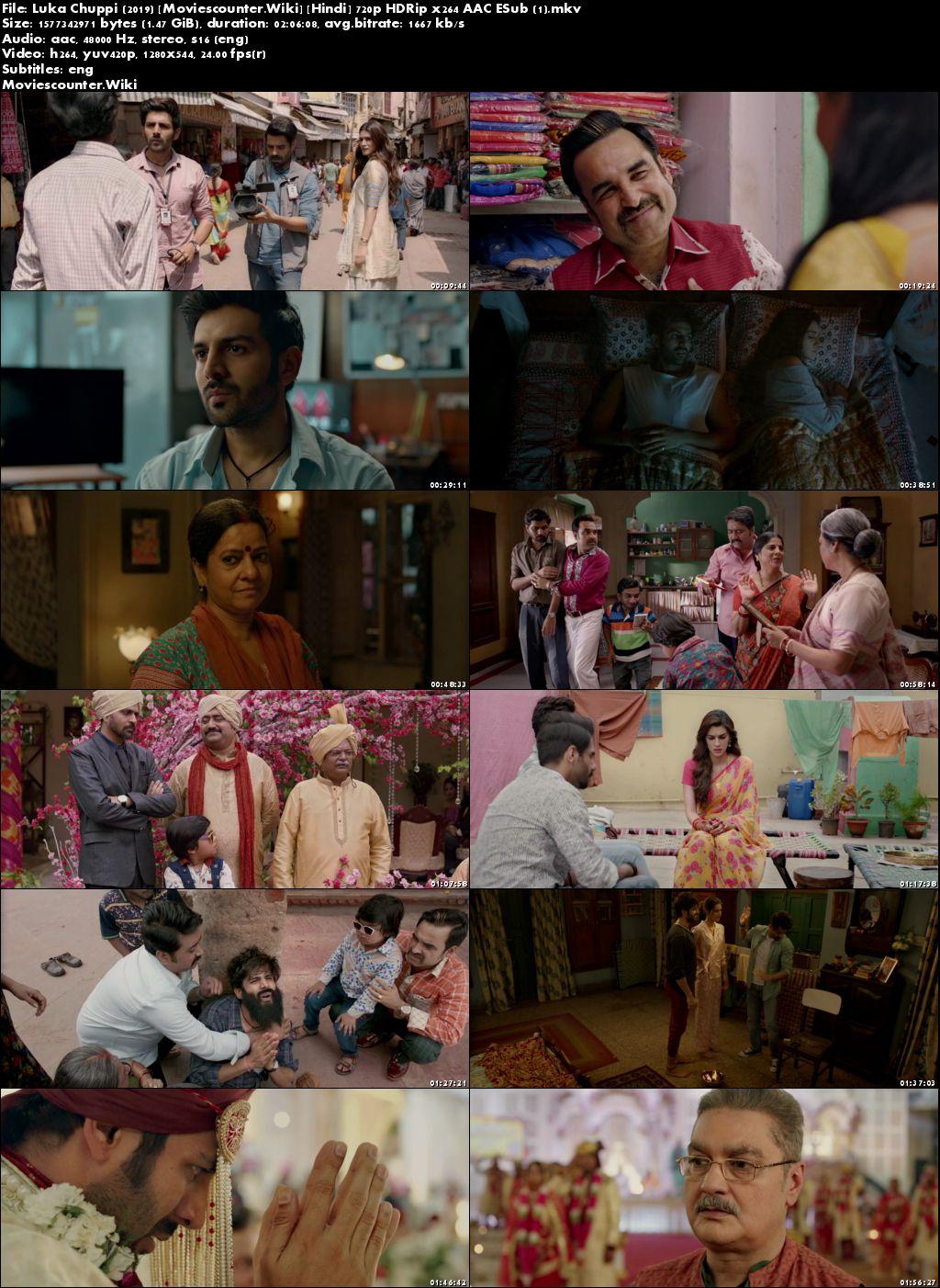Screen Shots Luka Chuppi 2019 Hindi HD 720p