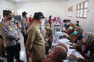 Bupati Batu Bara Tinjau Mobilisasi Vaksinasi Massal