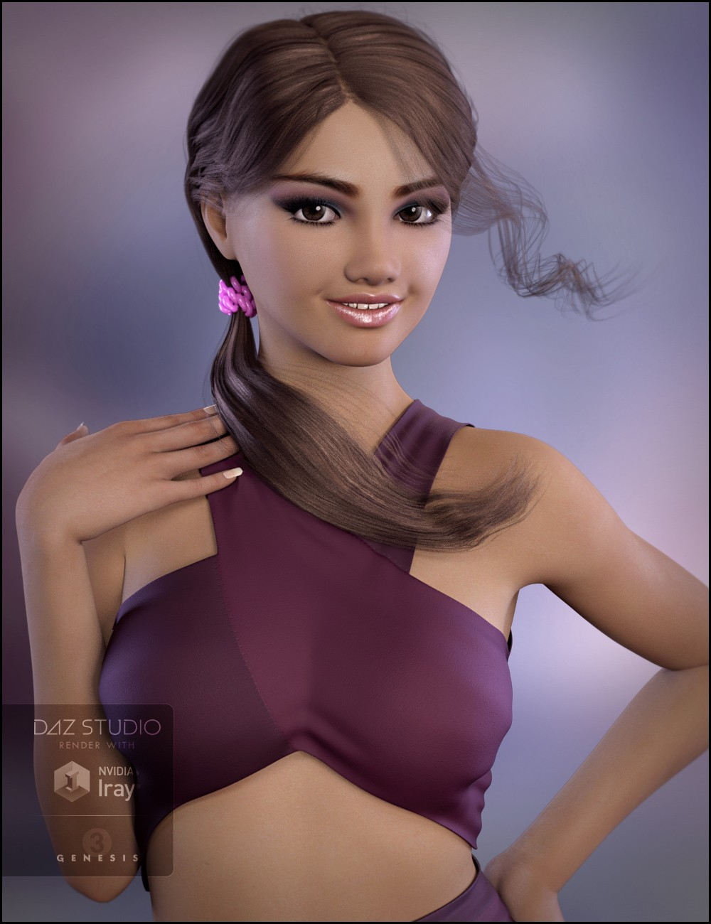 Skyler Character and Hair for Genesis 3 Female(s) | Daz 3D