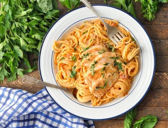Italian Chicken Pasta #dinner #spaghetti