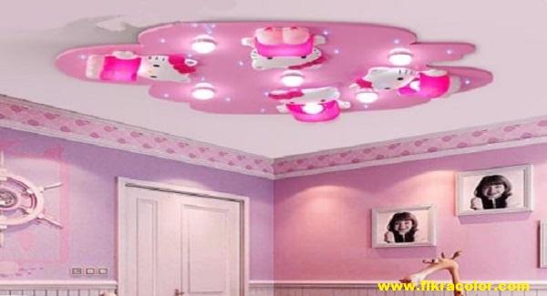 ديكورات جبس اسقف غرف نوم الاطفال Fikra Color