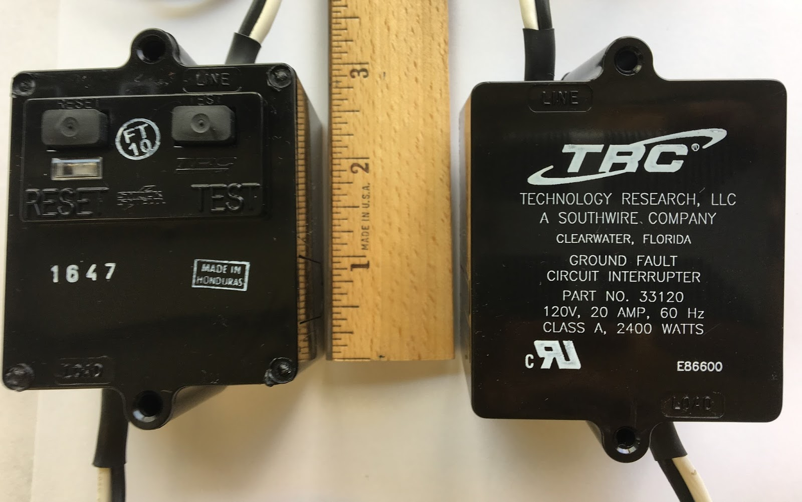 Industrial Electric Switches Trc Southwire 33120 Panel Mount Gfci Groundfault Circuit Interrupter Unit Top Is Left With Buttons And Bottom Right Model