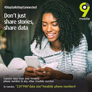 9mobile data transfer Code