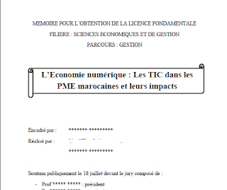 PFE : L'Economie numérique : Les TIC dans les PME marocaines et leurs impacts