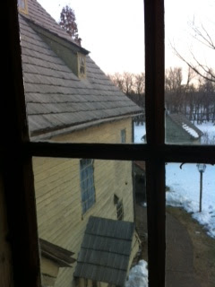 View from upper floor of Sisters House at Ephrata Cloister