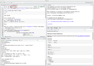 Interactive reports in R with knitr and RStudio