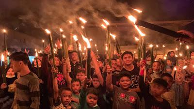 Lantunkan Takbir dan Salawat, Jorong Subarang Antusias Sambut Idul Fitri 1442 H
