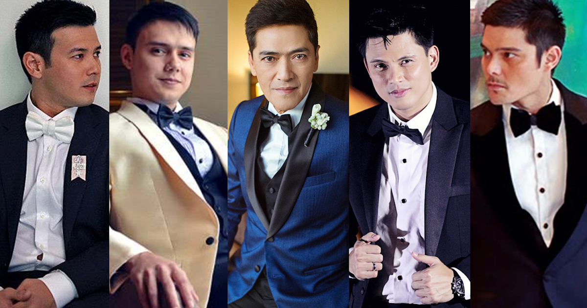 Look Top Filipino Celebrity Grooms Who Have The Best Wedding Day Style