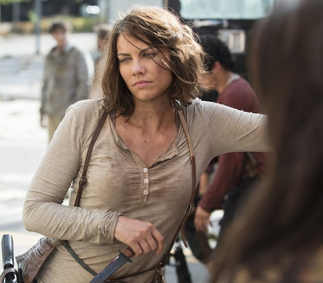 Lauren Cohan em cena de The Walking Dead