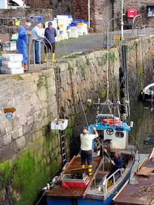 Pescadores en Crail