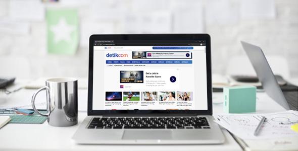 detikweb - Template Blogger Mirip Detik
