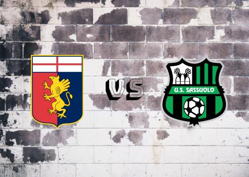 Genoa vs Sassuolo  Resumen
