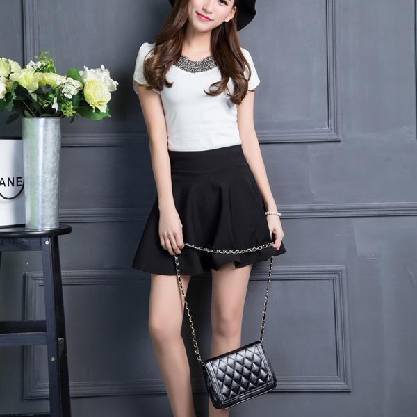 Model Rok Wanita A-line Skirt kekinian