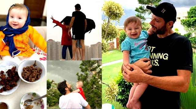 Shahid Afridi Enjoying with His Daughters in Karachi Rain