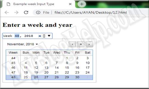 input type week
