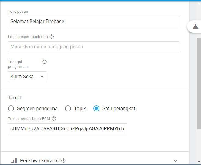 Screenshot_Mengirim Pesan pada perangkat Spesifik