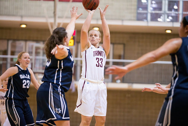 Trinity University women's basketball player Kate Irvin