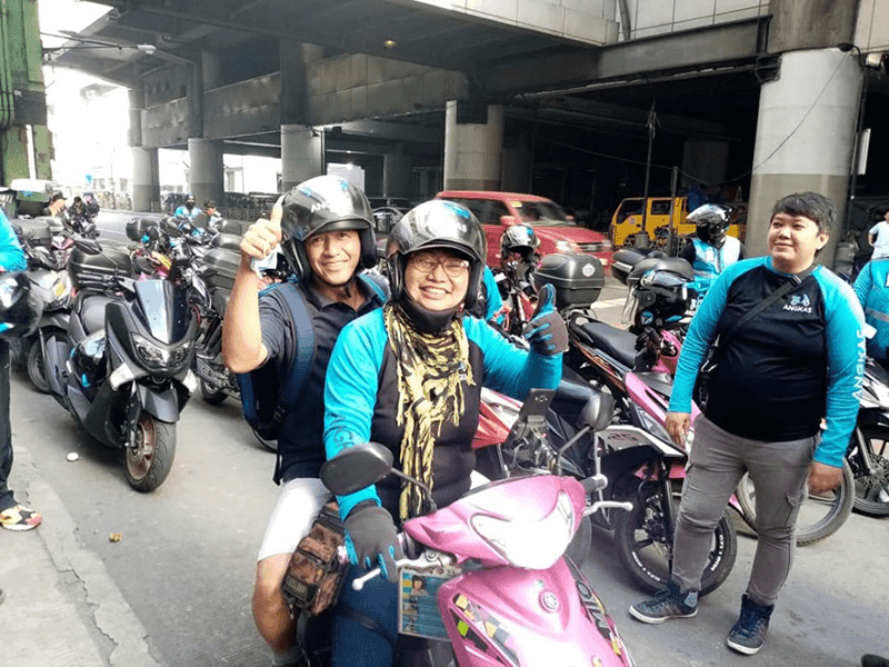"""Motorcycle taxi operations suspended amid Metro Manila """"lockdown"""""""