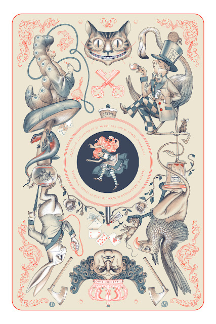 Alice's Adventures In Wonderland Regular Edition Screen Print by Jonathan Burton x Mad Duck Posters
