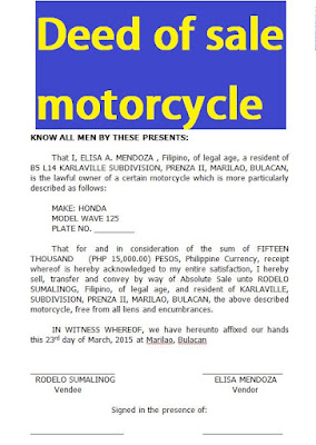 deed of sale motorcycle doc