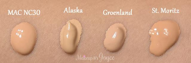 Nars Velvet Matte Skin Tint Alaska Groenland St. Moritz Swatch
