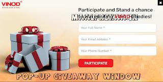 Vinod Stainless Steel Contest Free Goodies