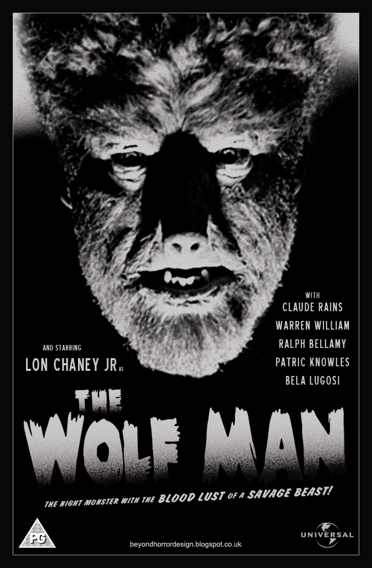 Beyond Horror Design Wolf Man The George Waggner 1941