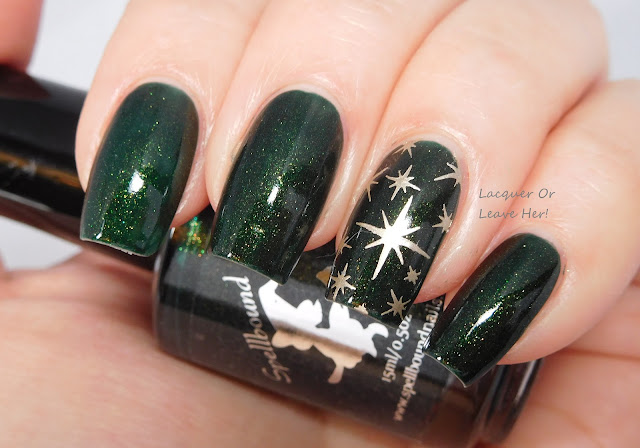 Spellbound Nails Holly Jolly + Bunny Nails HD-F + Messy Mansion Soft Gold