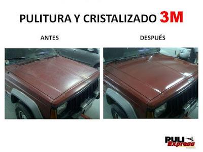 Pulitura y Cristalizado 3M en Caracas autolavado chacao