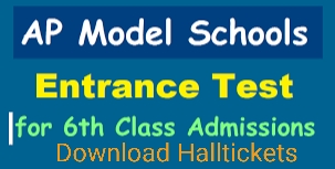 Ap Model Schools 6th Class Addmission test Hall tickets.