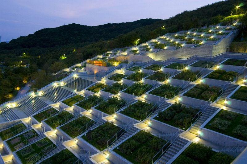Jardín Awaji Yumebutai 淡路夢舞台 Japón garden