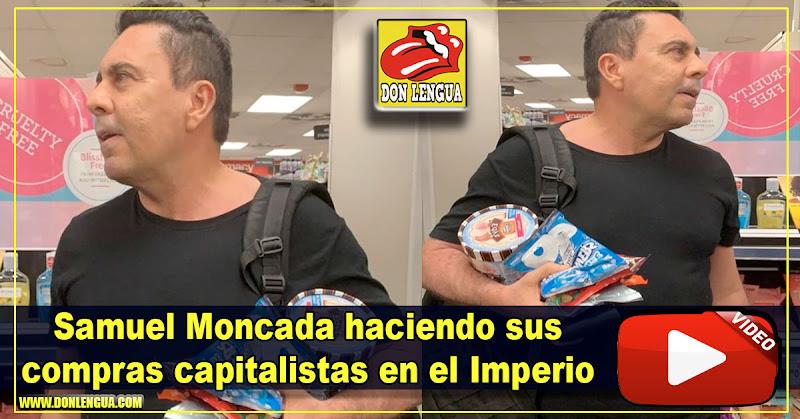 Samuel Moncada escarchado mientras hacía sus compras capitalistas en el Imperio
