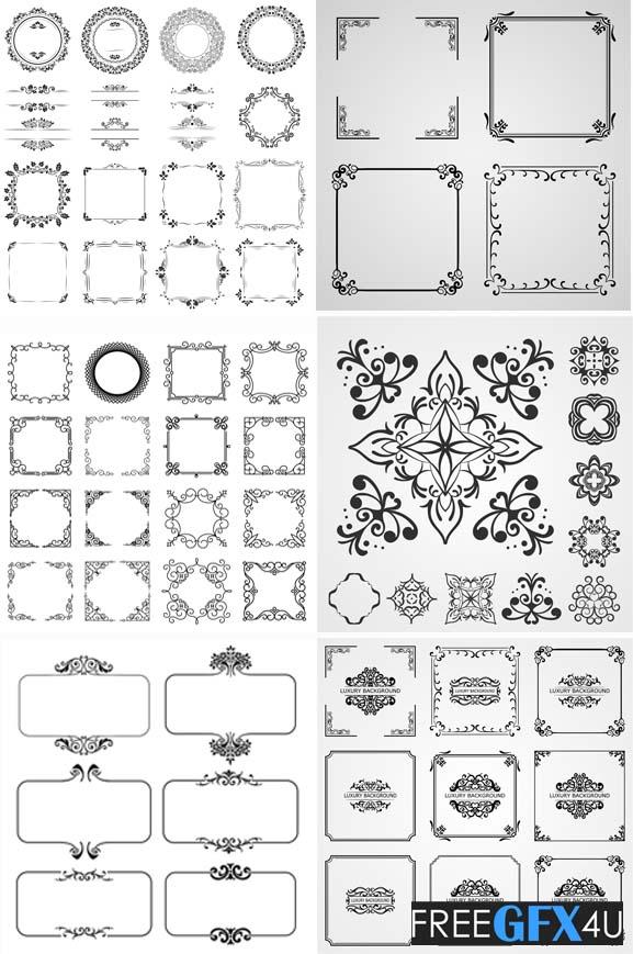Decorative Frames Borders And Vintage Creative Design