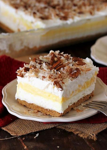Slice of Coconut Cream Yum Yum Image