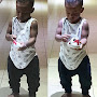 Linda Ikeji Shows Of Her 15 Months Old Son's Muscles